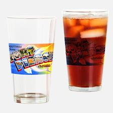 Fort Pierce Florida Greetings Drinking Glass