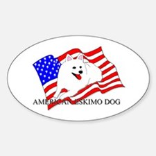 American Eskimo Dog USA Decal