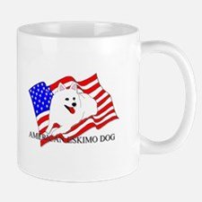 American Eskimo Dog USA Mug