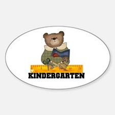Bear Kindergarten Oval Decal