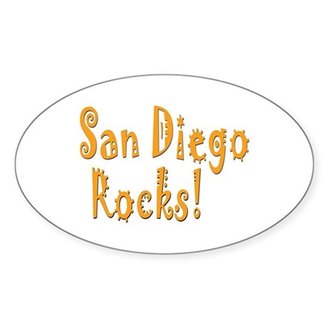 San Diego Rocks! Oval Sticker