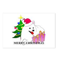 American Eskimo Christmas Postcards (Package of 8)