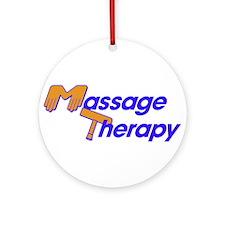 Massage Therapy Ornament (Round)