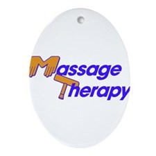 Massage Therapy Ornament (Oval)