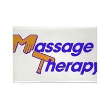 Massage Therapy Rectangle Magnet (100 pack)