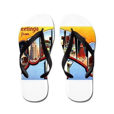 buffalo new york greetings flip flops by w2arts. Black Bedroom Furniture Sets. Home Design Ideas