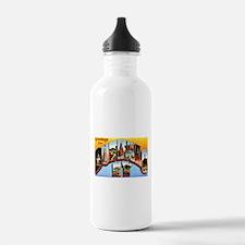 Buffalo New York Greetings Water Bottle
