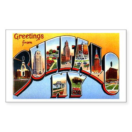 Buffalo New York Greetings Sticker (Rectangle)