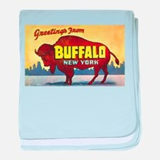 Buffalo New York Greetings baby blanket