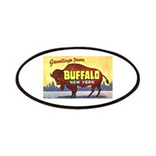 Buffalo New York Greetings Patches