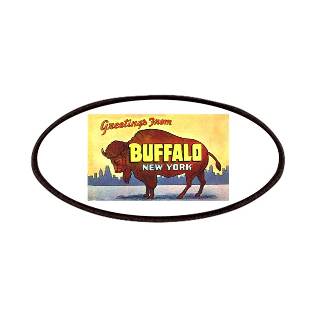 Buffalo New York Greetings Patches By W2arts