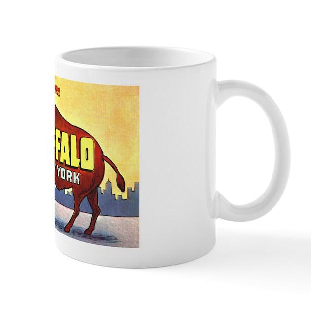 Buffalo New York Greetings Mug By W2arts