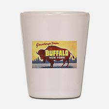 Buffalo New York Greetings Shot Glass