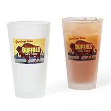 Buffalo New York Greetings Drinking Glass