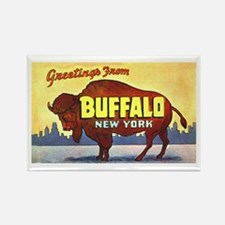 Buffalo New York Greetings Rectangle Magnet (10 pa