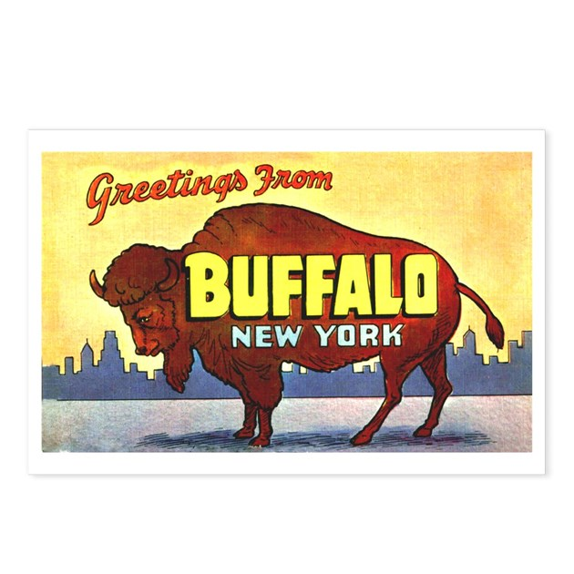 Buffalo New York Greetings Postcards (Package Of 8 By W2arts