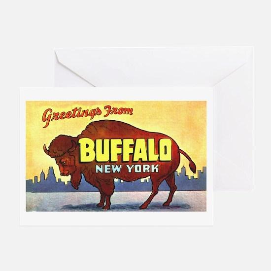 Buffalo New York Greetings Greeting Card