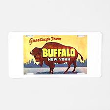 Buffalo New York Greetings Aluminum License Plate