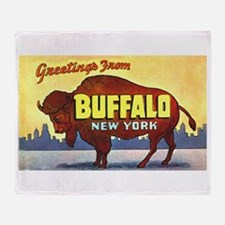 Buffalo New York Greetings Throw Blanket