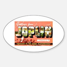 Joplin Missouri Greetings Sticker (Oval)