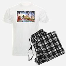 Marquette Michigan Greetings Pajamas