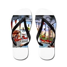 Marquette Michigan Greetings Flip Flops