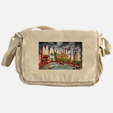 Marquette Michigan Greetings Messenger Bag