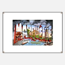 Marquette Michigan Greetings Banner