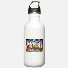Marquette Michigan Greetings Water Bottle