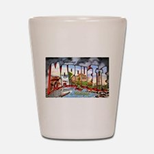 Marquette Michigan Greetings Shot Glass