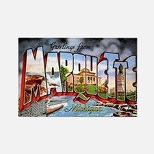 Marquette Michigan Greetings Rectangle Magnet