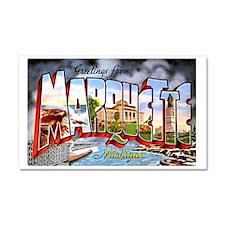 Marquette Michigan Greetings Car Magnet 20 x 12