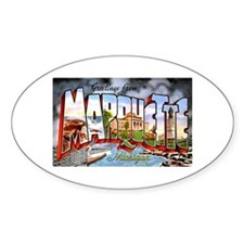 Marquette Michigan Greetings Decal