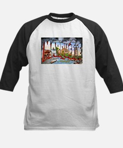 Marquette Michigan Greetings Kids Baseball Jersey