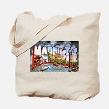 Marquette Michigan Greetings Tote Bag