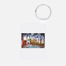 Marquette Michigan Greetings Keychains