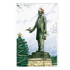 Lincoln Statue: Middlesex NJ: Christmas Postcard 8
