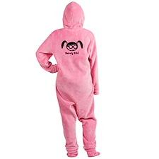 nerdy girl.psd Footed Pajamas