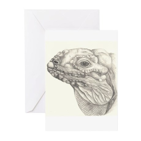 Rhino Iguana Greeting Cards (Pk of 10)