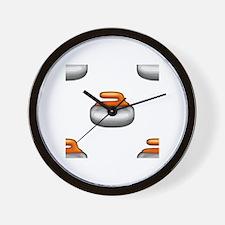 Cute Curling fan Wall Clock