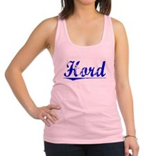 Hord, Blue, Aged Racerback Tank Top