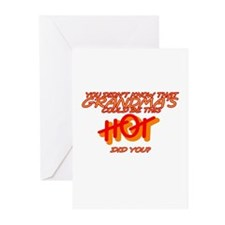 Hot Grandma 2 Greeting Cards (Pk of 10)