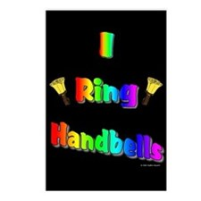 I Ring Handbells Black Postcards (Package of 8)