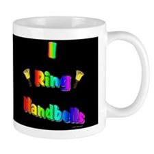 I Ring Handbells Black Mug