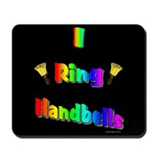 I Ring Handbells Black Mousepad