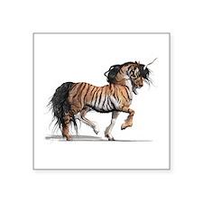 """Tiger Unicorn Square Sticker 3"""" x 3"""""""