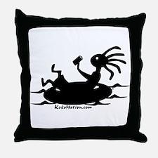 Kokopelli Tuber Throw Pillow