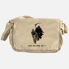 Grim Reaper Chasing Cyclist Messenger Bag