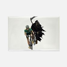 Grim Reaper Chasing Cyclist Rectangle Magnet
