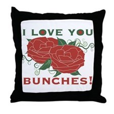 Love You Bunches! Throw Pillow
